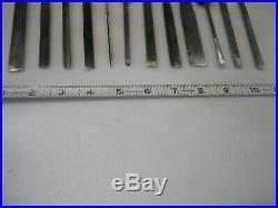 Henry Taylor Vtg Set of 12 Wood Carving Chisels / Gouges Sharpened Good Cond