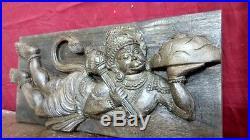 Hindu God Hanuman Ji Panel Vintage Statue Wall Hanging Sculpture Figurine Rare