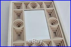 Jack Eisner Vtg Mid Century Modern Retro Geometric Paper Sculpture Mirror