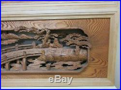 Japanese Vintage Ramma wood carving interior architecture 1900's Japan craft