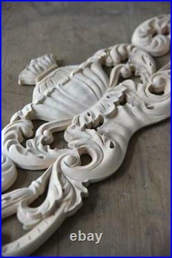 Jeanne d'Arc Living Holzornament Vintage Paint Ornament 100x23cm Wood Carving