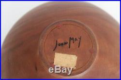 John May Vtg Mid Century Modern Walnut Turned Wood Studio Craft Bowl Sculpture