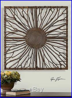 Josiah Urban Lodge Chic 27 Rustic Natural Wood Branches Decorative Wall Art