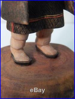 K. Malcolm Fred Vintage Hopi Indian Mana Kachina All Wood Fabulous Carving