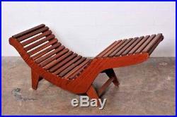 Klaus Grabe Vtg Mid Century Danish Modern Wood C5 Sculptural Chaise Lounge Chair
