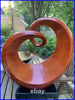 LARGE Wood SCULPTURE MODERNISM VINTAGE