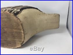 LIFE-SIZE Carved Wood Canadian Goose Sculpture Hunting Decoy Glass Eyes