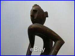 Large 27 Vintage Mask Man African Carving Picasso Style Tribal Modernism Nude