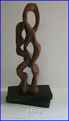 Large Arp Style Sculpture Biomorphic Abstract Carving Statue Modernism Vintage