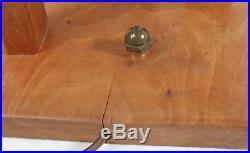 Large Sculptural Mid Century Modern Wood Table Lamp Vintage Cubist Modeline Era