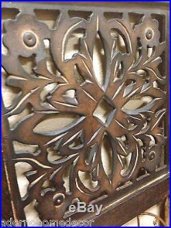 Large Square Wood Wall Panel Metal Bells Vintage Rustic Chic Unique Decor