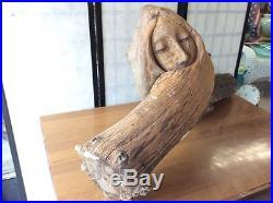 Large Vintage Natural Free Form Wood Carving Sculpture Folk Art 45x 22x 11