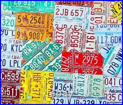 License Plate Map of the USA Huge 8 Foot Size OOAK United States Pub Art
