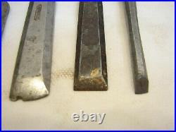 Lot 5 Vintage Stanley Everlast Sweetheart Chisels Wood Carving Tools 1/4-1&1/4