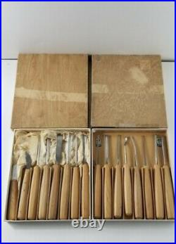 Lot Of 16 Vintage Henckels Wood Carving Chisels Made In Germany EXCELLENT
