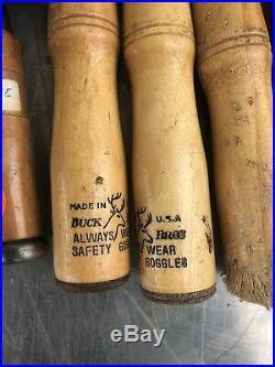 Lot Vintage Wood Working Hand Chisel Lathe Gouge Carving Hammer Tools