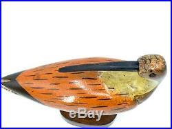 MID CENTURY MODERN WOOD BIRD SCULPTURE, VINTAGE 12 By 16 MODERNIST ART