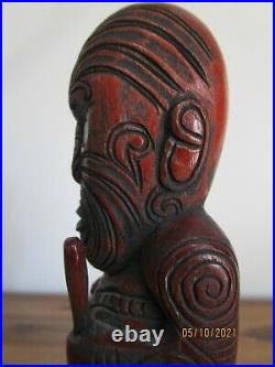 Maori Teko Teko Tiki Vintage Small Wood Carving Rare (Not Resin)