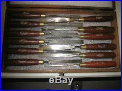 Marples Vintage Set of 12 Wood Carving Chisels England Sharpened Nice Condition
