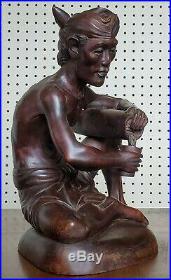 Master Bali Wood Sculpture Balinese Indonesia carving carved vintage mid century