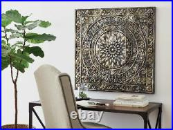 Metal Wall Art Home Decor Medallion Entryway Living Iron Embossed Lightweight S