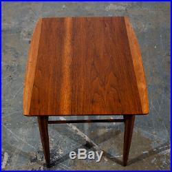 Mid Century Danish Modern Sculptural Walnut Accent Side Table Vintage MCM VTG