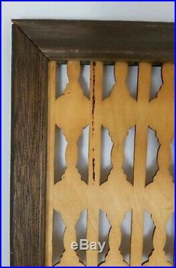 Mid-Century Danish Teak Wood Wall Art Sculpture Panel Screen Divider Vintage