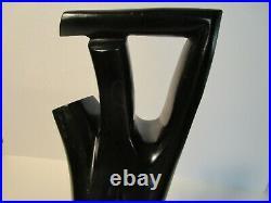 Mid Century Modern Abstract Danish Modern Wood Sculpture Vintage
