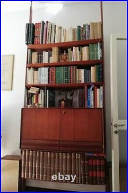 Mid Century Teak wood sculptural WALL Unit bookcase GIO PONTI Albini Italy 50s