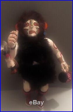 Old Native American Large Vintage Hopi Heheya Katsina Kachina Doll Wood Carving
