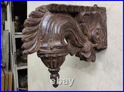 Old Vintage Rare Hand Carved Decorative Wooden Wall / Bracket Hanging Panel