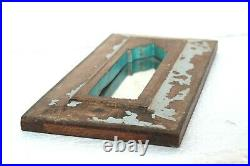 Old Wooden Hand Carved Mirror Frame Vintage Distressed Wall Hanging Decor BM-92