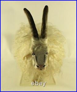 Original Folk Art Sheep Sculpture Mid Century Modern Vintage