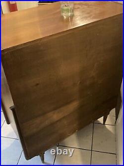 Original Mid Century Modern Walnut Sculptural 5 Drawer Highboy Dresser Chest VTG