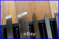 Pristine! 8 Vintage Craftsman Chisel Gouge Wood Carving Lathe Turning Tool Box