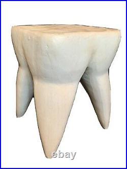 Rare Antique/Vintage Mid Century Modern Pop Art Molar Tooth Wood Table Sculpture