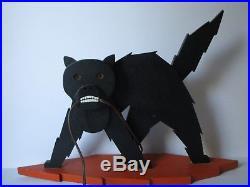 Rare Antique-vintage Americana Folk Art Electronic Pop Sculpture Op Retro Cat