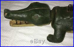 Rare Vintage Alligator Spearing Decoy Wood Carving Fish Decoy by Casey Edwards