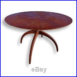 Rare Vtg TLC Henredon Sculptural Horn Leg Spider Leg Dining Table With Leaf MCM