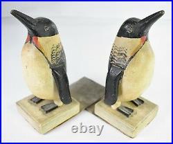Rare set of Charles Hart Emperor Penguin Bookends circa 1930s