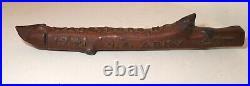 Rare vintage 1941 carved WW2 US Army NC trench art folk art wood sculpture club