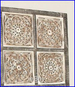 Rustic Tuscan Vintage Distressed Gray Wood Wall Art Panel Plaque Home Decor NEW