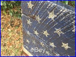Rustic Wood American Flag, 25x40 Original Art On Vintage Oak Barn Wood