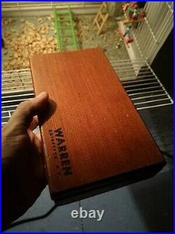 Set 20 VTG Warren carving knife tool kit wood box handle leather bone