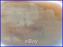 Signed Virgil Ledford Carved Wood Goose Figure Vintage Folk Art