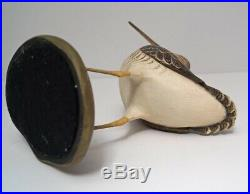 Snipe Bird Wood Carving By Frank Finney
