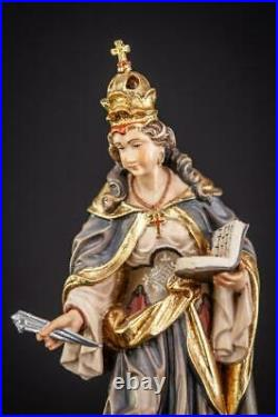 St Helena of Constantinople Wood Sculpture Saint Italian Wooden Carving Vintage