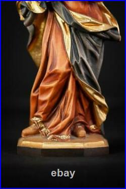St Mary Magdalene Sculpture Saint Magdala Statue Wood Carving Vintage 10.6