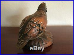 Tom Taber/John Fairfield Bobwhite Quail Decoy Wood Carving