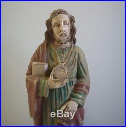 VNTG St. Jude Wood JESUS CHRIST Cross Statue Sculpture CATHOLIC Religious Signe